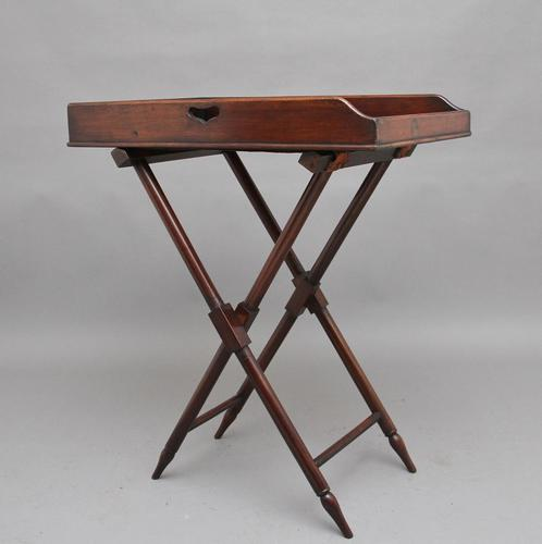 19th Century Mahogany Butlers Tray on Stand (1 of 10)