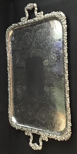 Large Silver Plated Butlers Tray (1 of 4)