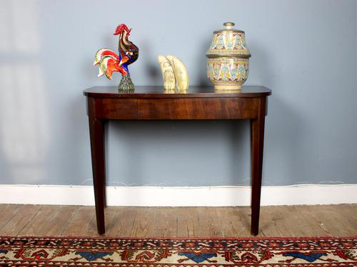 Antique Georgian Mahogany D-End Console Table (1 of 4)