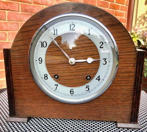 Fabulous Early 1940's English Striking Mantel Clock by Garrard. (1 of 8)