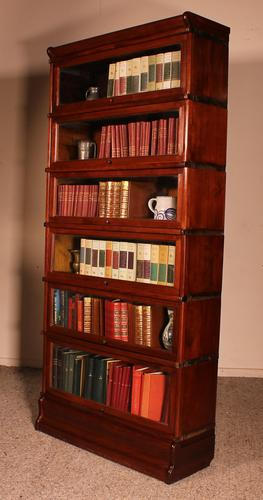 Fine Globe Wernicke Bookcase in Mahogany of 6 Elements - 19th Century (1 of 8)