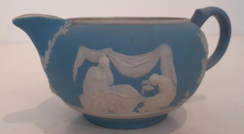 Wedgwood Light Blue Jasperware Creamer, 1900 (1 of 3)