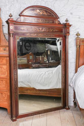 Incredible Mahogany & Brass Napoleon II Double Bed (1 of 10)