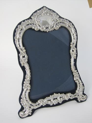 Large Decorative Shaped Rectangular Victorian Silver Photo Frame (1 of 6)