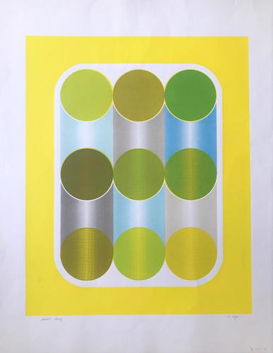 Original screen print by Ray Fawcett. Inscribed 'Artists Proof and dated 1970 (1 of 2)