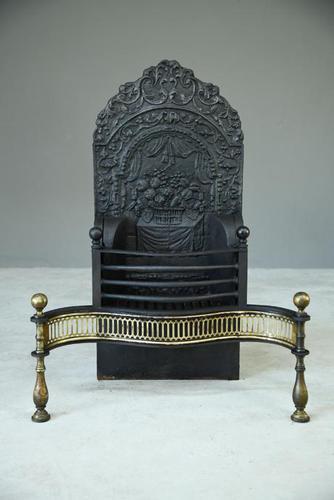 Antique Brass & Cast Iron Fire Basket (1 of 10)