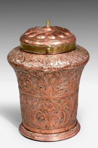 Mid-19th Century Eastern Lidded Vase (1 of 6)