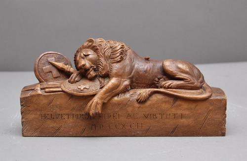 19th Century Carving of the Lion of Lucerne (1 of 9)