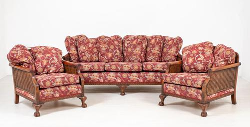 Good Quality Mahogany Bergere Suite (1 of 14)