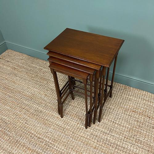 Stunning Set of Four Edwardian Antique Nest of Tables (1 of 5)