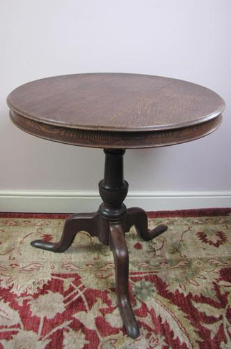 19th Century Oak circular  table (1 of 5)