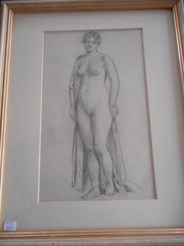 Pencil Drawing of a Female life Study (1 of 5)