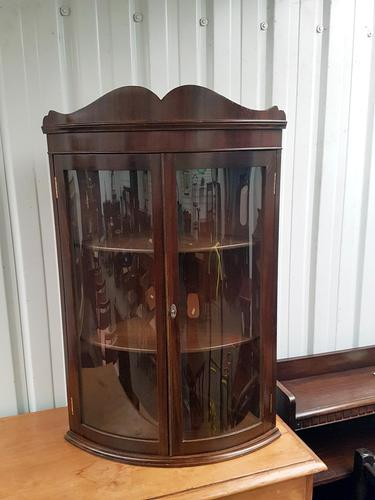 Hanging Bow Glass Cabinet (1 of 3)