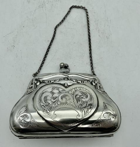 Silver Plated Evening Purse c.1913 (1 of 7)