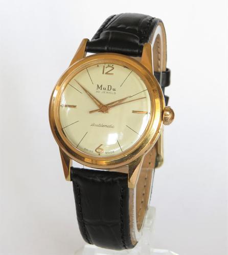 Gents 1950s Mudu Doublematic Wrist Watch (1 of 5)