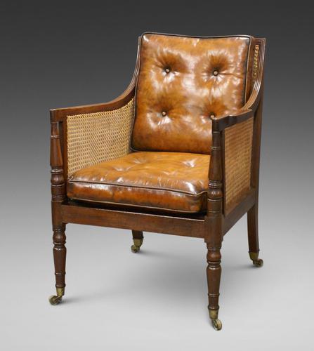 Georgian Mahogany Bergere Chair (1 of 7)