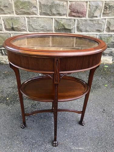Antique Mahogany Bijouterie Display Table (1 of 9)