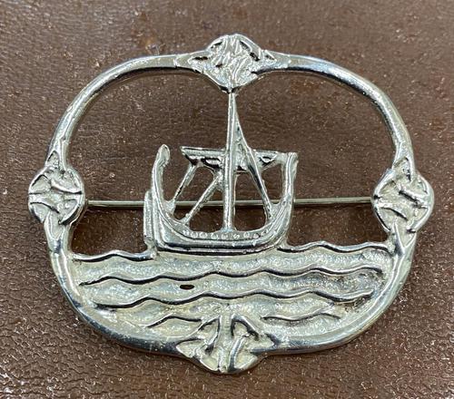 Silver Scottish Viking Ship Brooch (1 of 2)