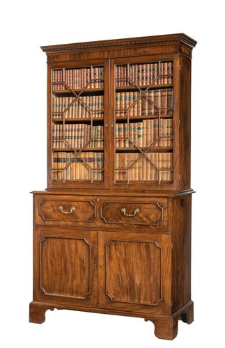 George III Period Mahogany Secretaire Bookcase, Gillows of Lancaster Attributed (1 of 9)
