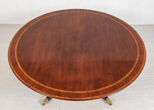 Mahogany Regency Style Circular Dining Table (1 of 8)