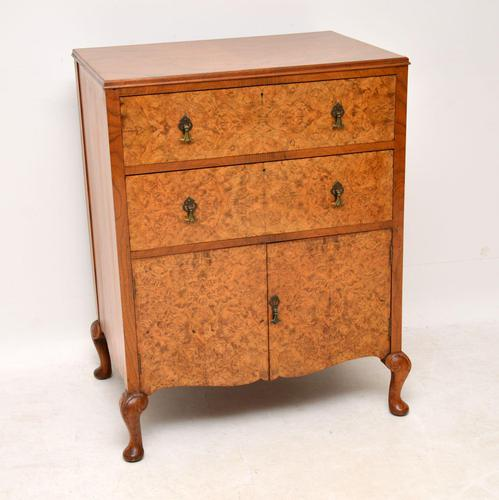 Antique Burr Walnut  Chest on Cabinet (1 of 12)