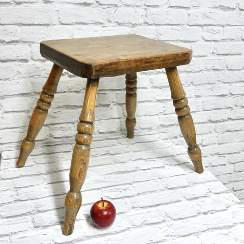 Antique 4-leg Country Stool (1 of 6)