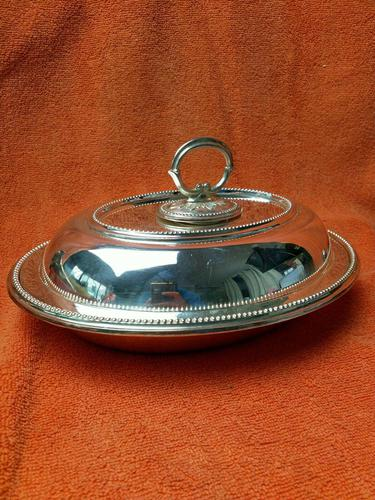 Antique Sheffield Silver Plate Lee & Wigfull  Serving Tureen Dish & Lid C1870s (1 of 11)