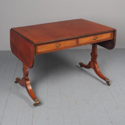Antique Regency Style Mahogany Sofa Table (1 of 12)