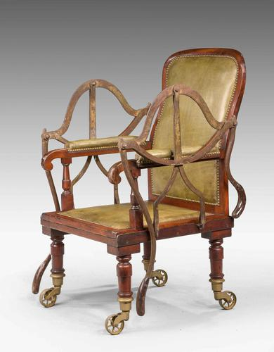 19th Century Mahogany Framed Carrying Chair (1 of 10)