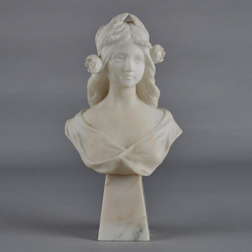 Stunning Italian Carved Marble Sculpture of Female (1 of 10)