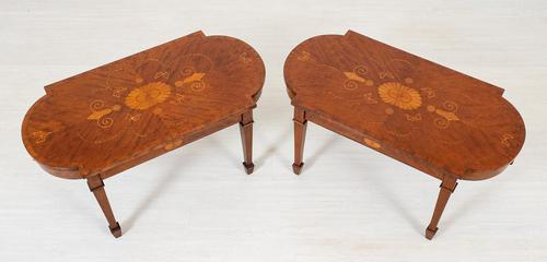 Pair of Mahogany Inlaid Coffee Tables (1 of 14)