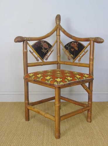 Rare Victorian Aesthetic Chair by Jas Shoolbred (1 of 10)