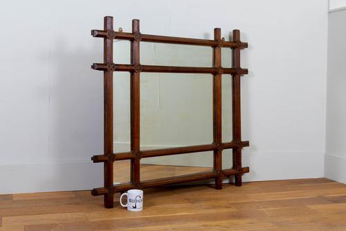 Wonderful Large Oak Arts & Crafts Mirror C1900 (1 of 11)