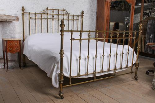 Handsome Super King Size All Brass Bed (1 of 8)