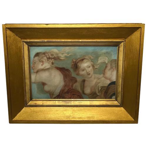 """Interesting Mythology 17th Century Painting """"The Three Graces"""" Aglaea, Euphrosyne & Thalia (1 of 12)"""