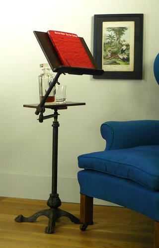 Lovely Victorian Cast Iron & Brass Music Stand Leveson & Sons London c 1900 (1 of 15)