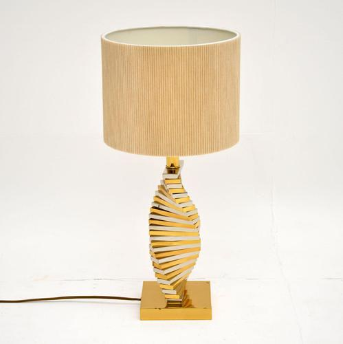 Vintage Brass & Chrome Table Lamp (1 of 5)