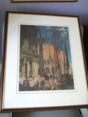 Sir Frank Brangwyn - Signed Print of the Doge's Palace, Venice (1 of 6)