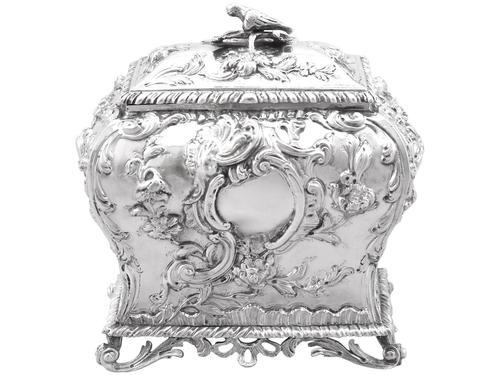 Sterling Silver Tea Caddy - Antique George III 1762 (1 of 12)