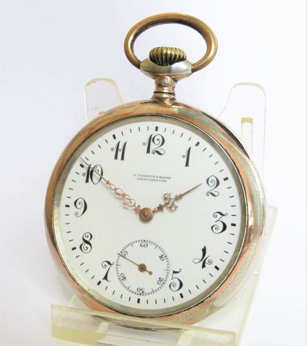 Antique Silver Galonne Pocket Watch (1 of 5)