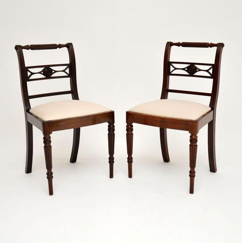 Pair of Antique Regency Mahogany Rope Back Side Chairs (1 of 8)