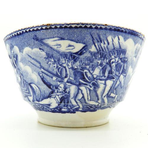 An Extremely Rare Pottery Napoleon Propaganda B&w Commemorative Bowl C.19thc (1 of 12)