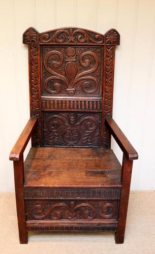 17th Century Oak Wainscot Chair (1 of 10)