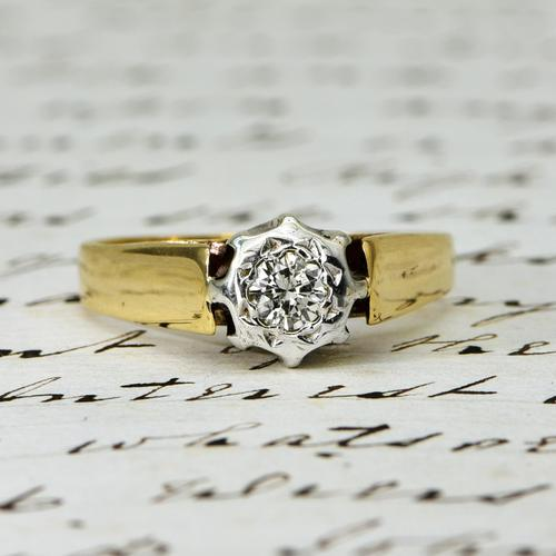 The Vintage 1979 Brilliant Solitaire Diamond Ring (1 of 5)