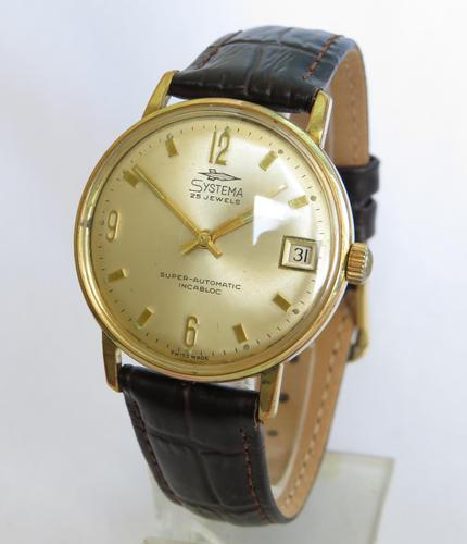 Gents 1960s Systema Automatic Wristwatch (1 of 5)
