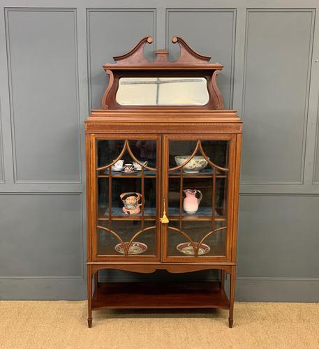 Inlaid Mahogany Edwardian Display Cabinet (1 of 12)