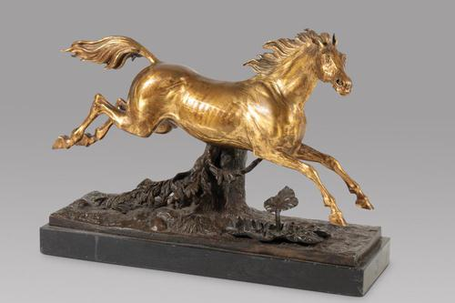 A Lovely Gilt Bronze Model Of a Horse (1 of 4)