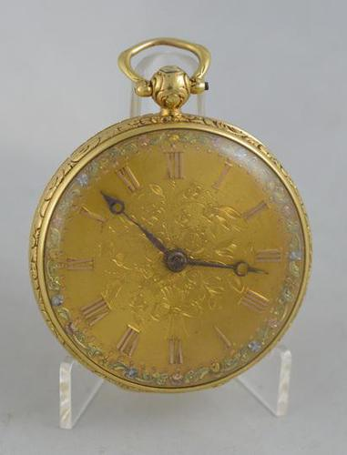 1837 English 18K Gold Fusee Pocket Watch (1 of 4)