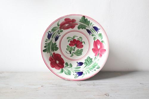 Late 19th Century Scottish Spongeware Pottery Bowl Persian Rose Pattern (1 of 23)