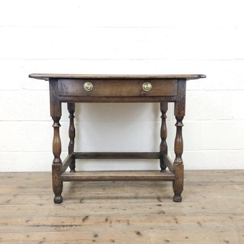 Antique Oak Side Table (m-2295) (1 of 12)
